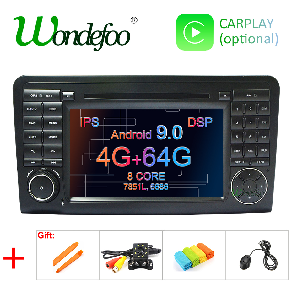 IPS Android 9.0 4G 64G CAR DVD player For Mercedes Benz CLASS ML W164 X164 ML350 ML300 GL500 ML320 ML280 GL350 GL450 GPS radio-in Car Multimedia Player from Automobiles & Motorcycles    1