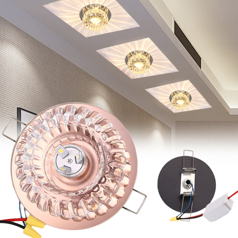 6 LED Crystal Aisle Lamp Ceiling Light Corridor Lighting Lights Fixture Household Accessories Drop Shipping photography light lamp bulb professional daylight lamp 210v household studio accessory lighting fixture
