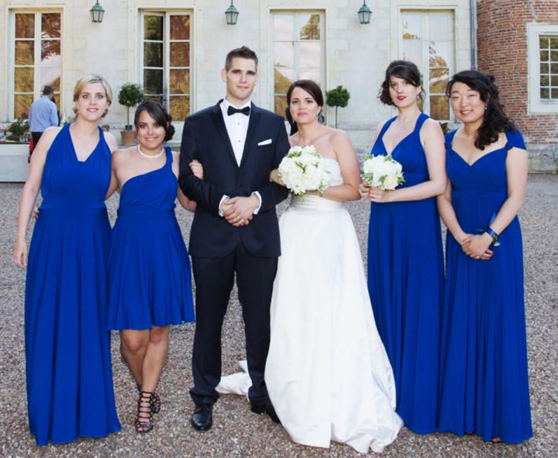 Bridesmaid Dress Royal Blue Multiway Long Dress Infinity Maxi Dress Plus  Size Wrap Dress With Sleeves Style