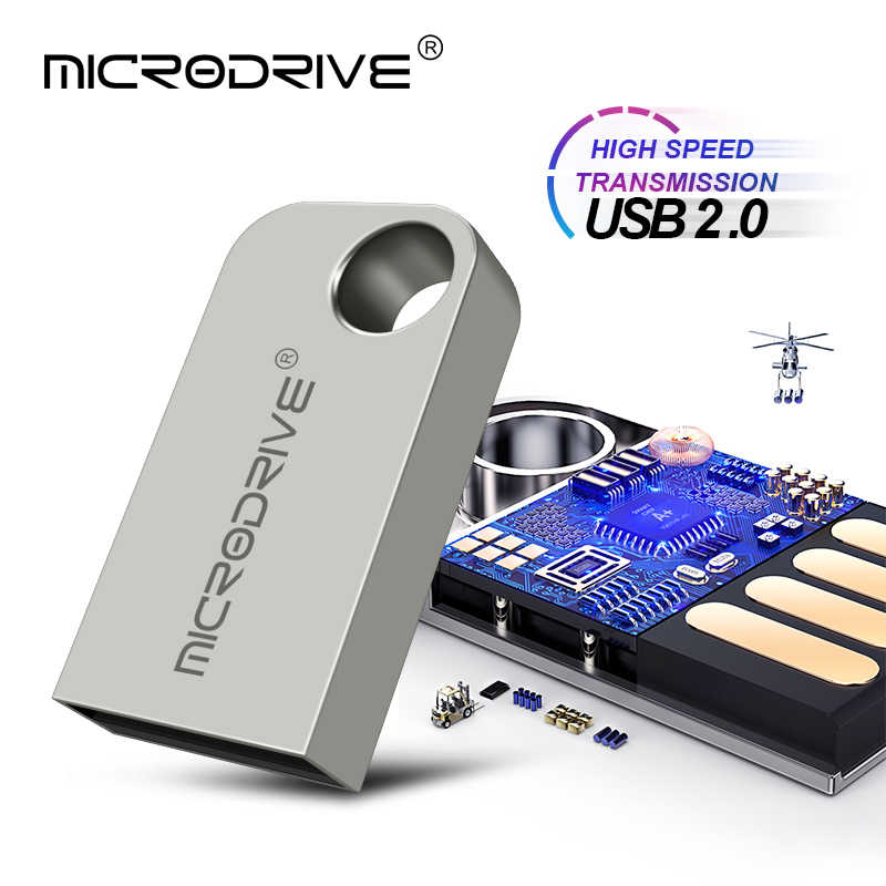 Super Mini disque de lecteur Flash USB en métal 100% réel 64 GB 32 GB 16 GB 8 GB 4 GB argent minuscules bâtons de mémoire Micro U disque usb stylo