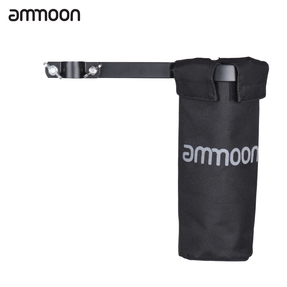 ammoon Drumstick Bag Drum Stick Holder 600D with Aluminum Alloy Clamp for Drum Stand