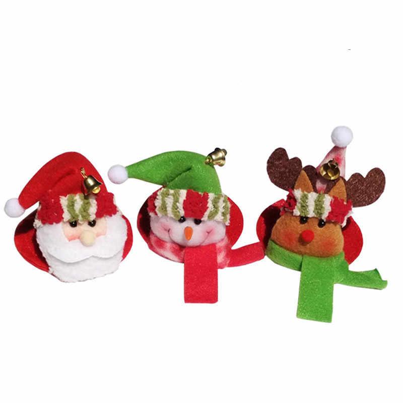 산타 클로스 엘크 사슴 눈사람 홈 테이블 와인 유리 잔 매트 크리 에이 티브 파티 크리스마스 장식 음료 컵 컵 받침 50% 할인