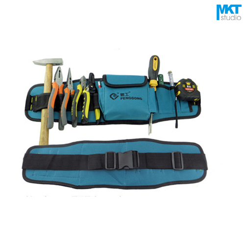 1Pcs Blue 56x16cm Oxford Cloth Durable Waterproof Tools Container Storage Waist Bag WithBelt,Electrical Tools Bag