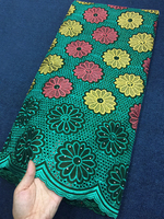 African Voile Lace Fabric 2018 High Quality Lace Swiss Voile lace In Switzerland Cotton Green Dresses For Women/Men