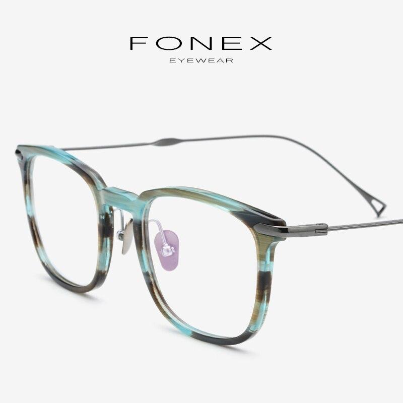 Acétate B titane lunettes cadre hommes myopie optique lunettes de Prescription femmes ultra-léger Transparent lunettes lunettes 9131