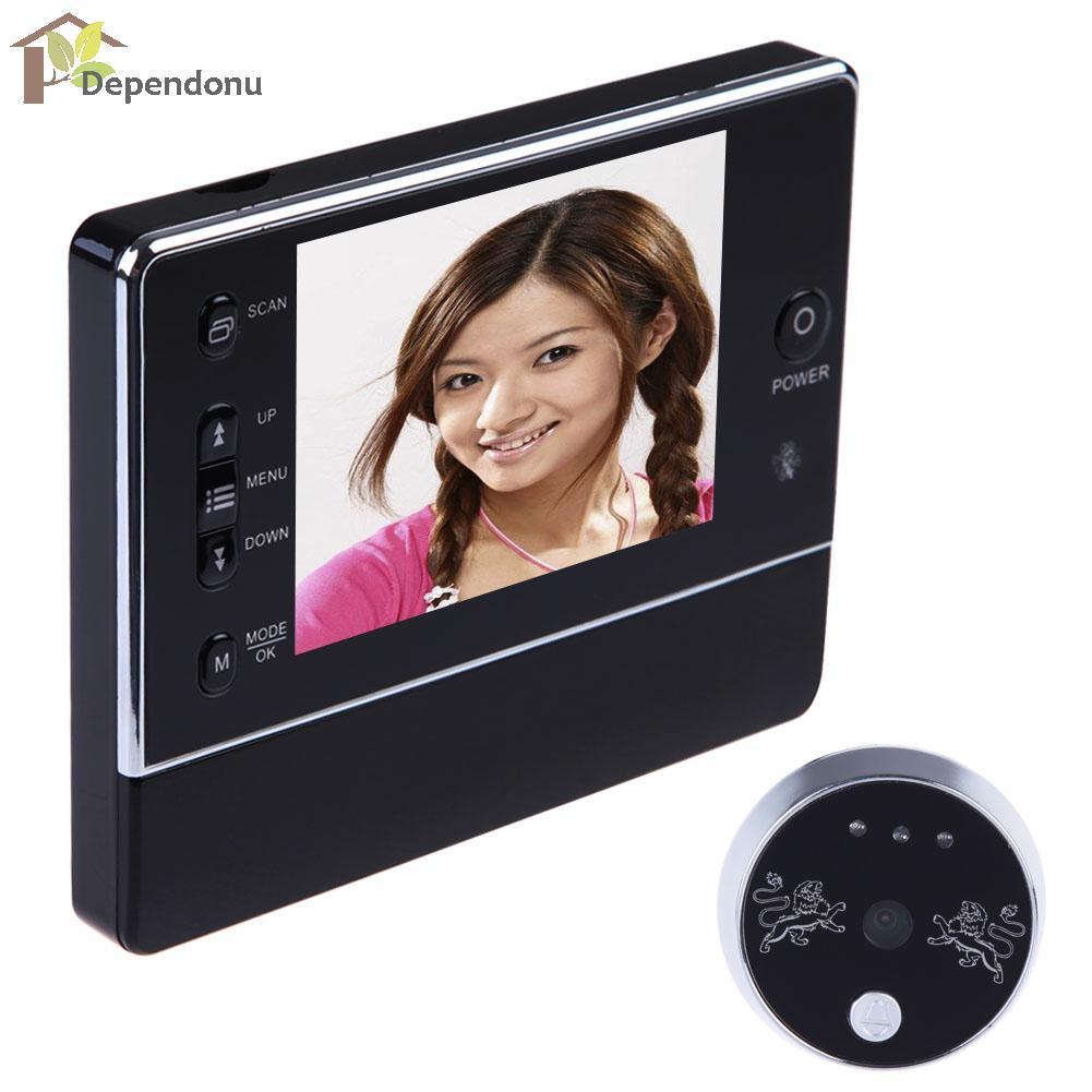 3,5 LCD Digital inalámbrico 120 grado timbre mirilla Interfone Cámara DVR de la visión nocturna de 3 X de ZOOM de la pantalla LCD de la puerta bell