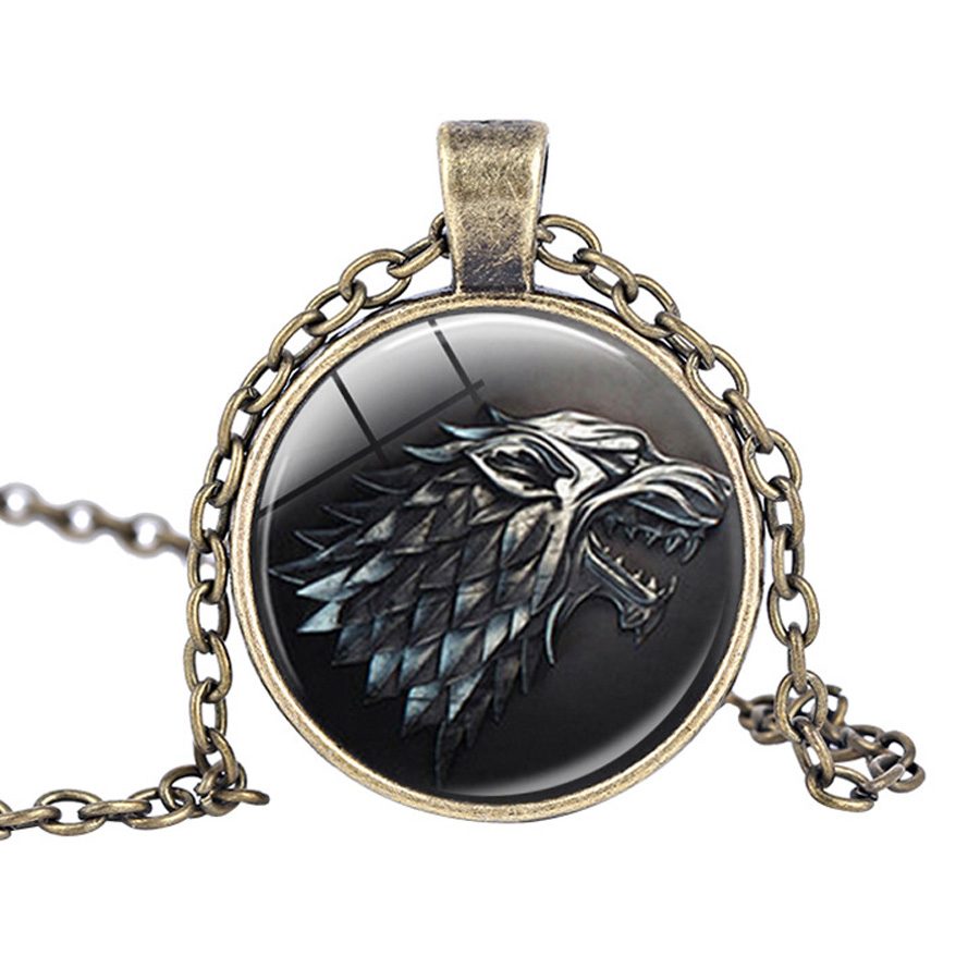 2017 New Game of Thrones Song of ice and fire House Stark Lannister Tully Baratheon Tyrell Greyjoy Targaryen Badge Necklace Toy
