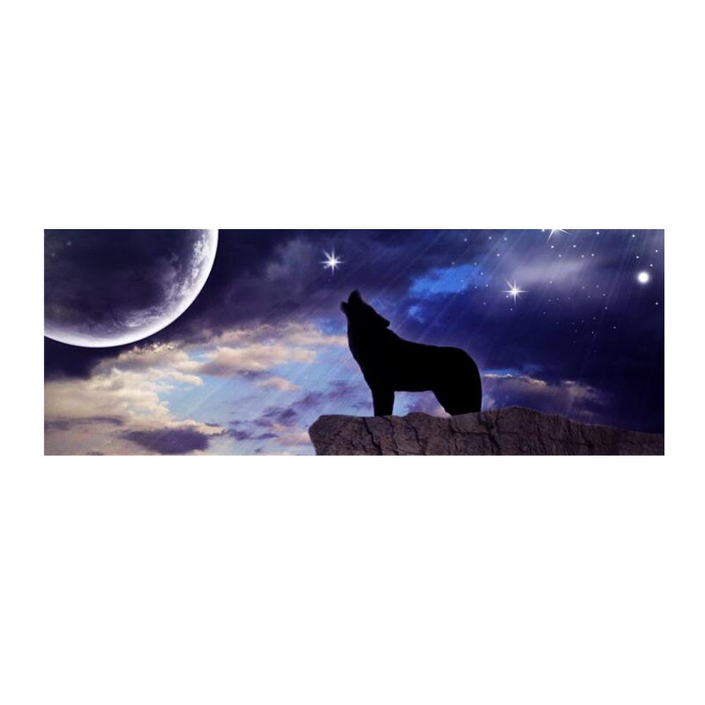 "Universal Car Pickup Rear Window Decor Decal 58X18/"" Howling Wolf Pattern Sticker"