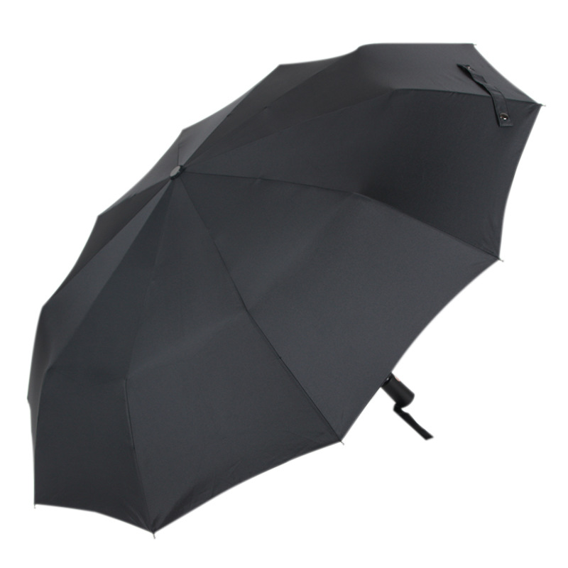 FKY Fully automatic customized umbrella teflon 10 bone folding umbrella for men business triple fold umbrella anti static 017