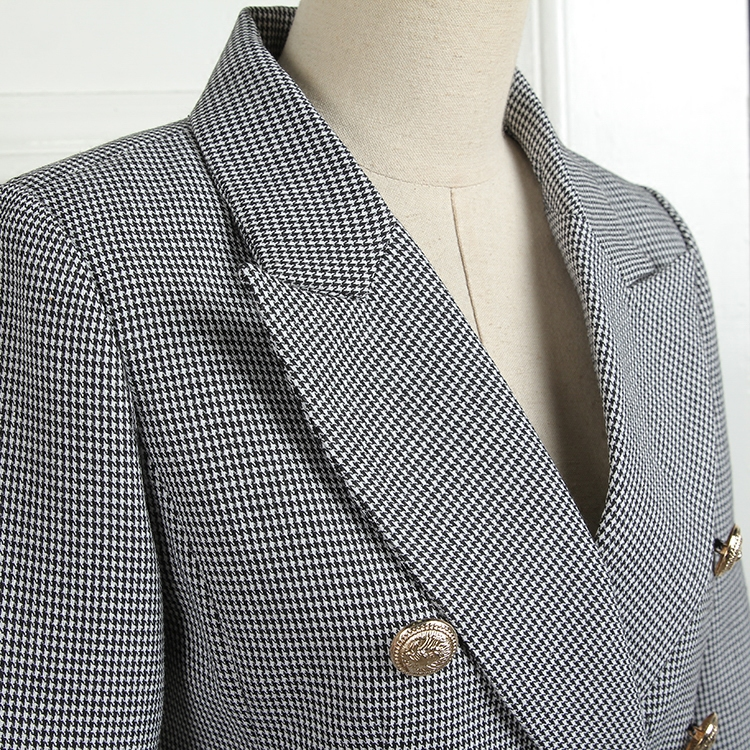 2018 frühling Neue mode Koreanische Dünne metall tasten plaid blazer anzug frauen einfache und stilvolle zweireiher Blazer Anzüge wj1920 - 6