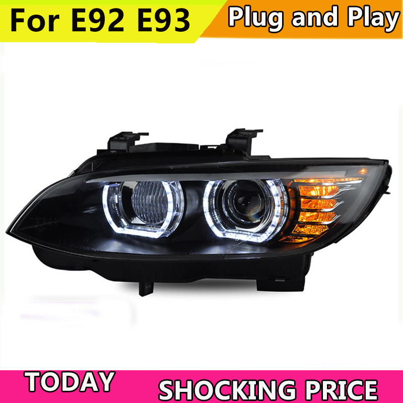 Car Styling for BMW M3 E92 E93 2006 2012 Headlight for BMW 335i Head Lamp Auto
