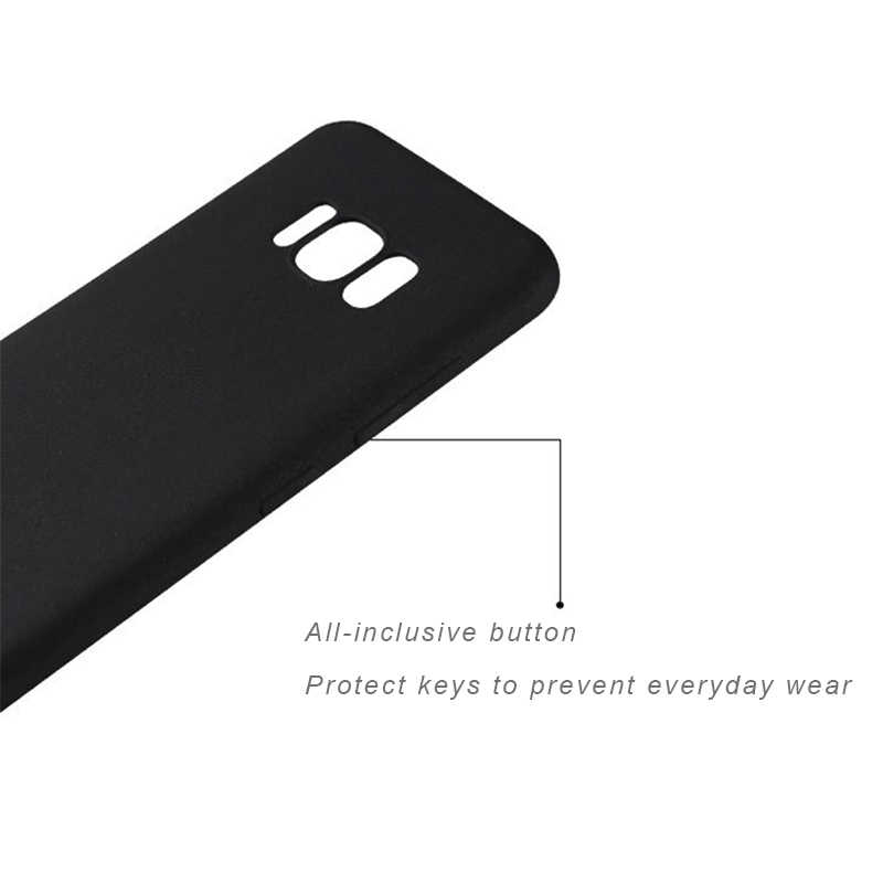 Ultra Thin Black Matte Soft Silicon TPU Case for Samsung Galaxy S9 S8 Plus Note 8 9 J3 J5 J7 2017 J2 Pro J4 J6 2018 Phone Cover