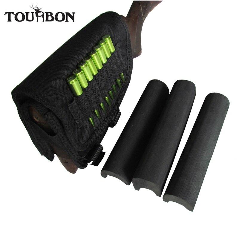Tourbon support de jeu de joue de fusil support de cartouches de Buttstock de tir avec 3 tampons réglables accessoires de pistolet de chasse en Nylon main droite