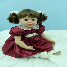 Reborn Silicone dolls 20 inch 50 cm  ,  Princess skirt curling girl holiday gift