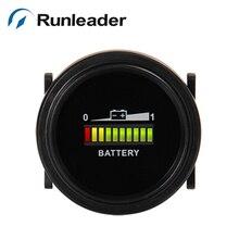 Runleader bi002 12/24/36/48/72 В круглый Батарея индикатор заряда вольтметр Для Гольф тележки морской очистки автомобиля