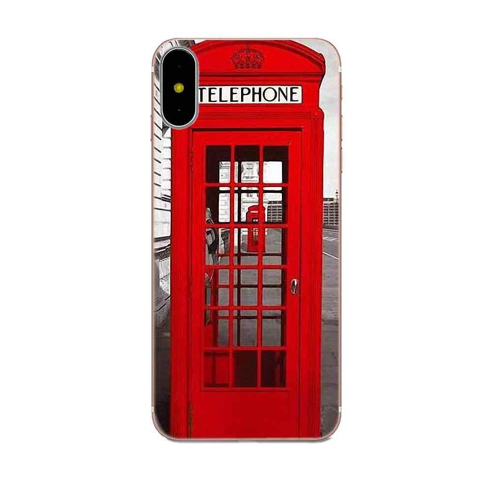 Coque souple coque de téléphone Londres Bus Angleterre Téléphone Pour Huawei P8 P9 P10 P20 P30 Mate 7 8 9 10 20 Lite Plus Pro 2017