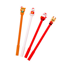 20pcs/pack Creative Christmas Gift for Kids Bear Snowman Santa Clause Elk Gel Pen Christmas Party Favor for Office School Supply elk santa clause pullover christmas hoodie