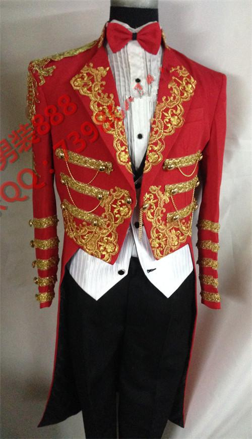 Red Gold Tuxedo Jacket Promotion-Shop for Promotional Red Gold ...