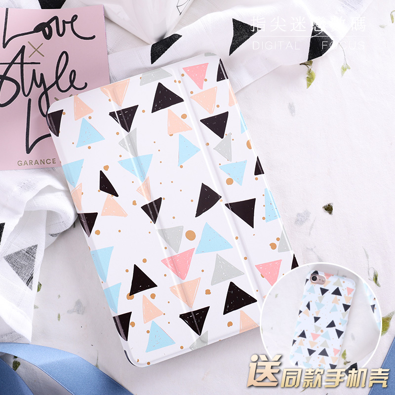 Simple Triangle Flip Cover For iPad Pro 9.7 10.5 Air Air2 Mini 1 2 3 4 Tablet Case Protective ShelL For New iPad 9.7 2017 for new ipad 9 7 2017 visual acuity chart flip cover for ipad pro 9 7 10 5 air air2 mini 1 2 3 4 tablet case protective shell