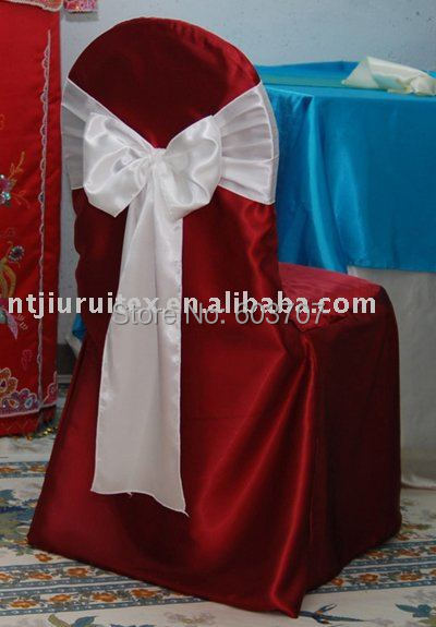 burgundy chair covers wedding canopy folding canada wholesale price satin fabric round top banquet cover for party use in from home garden on aliexpress com alibaba