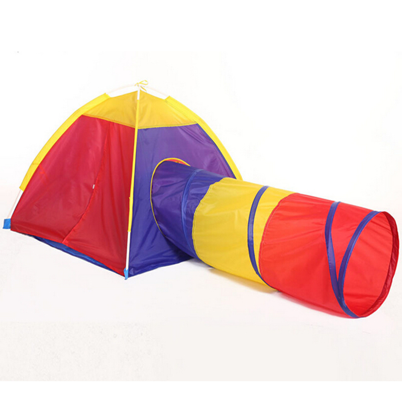 Childrenu0027s Play Tunnel Tent Baby C&ing Game House Indoor Ball Pit Pool Game for Kids Toys Outdoor Fun u0026 Sports Playhouse B509-in Toy Tents from Toys ...  sc 1 st  AliExpress.com & Childrenu0027s Play Tunnel Tent Baby Camping Game House Indoor Ball ...