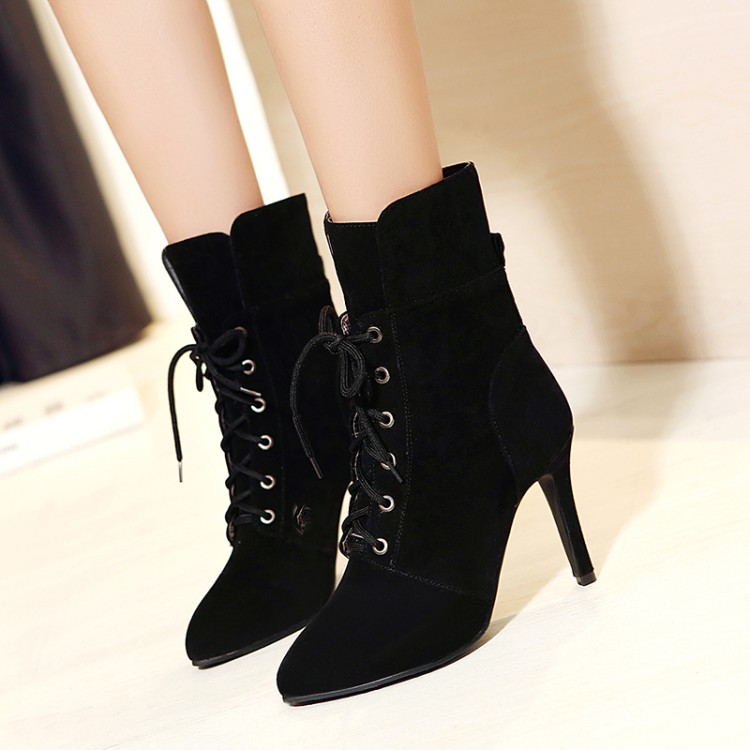 Big Size 34-43 for Women Sexy High Heels Warm Short boots Autumn Winter Shoes Pointed Toe Platform Knight Martin Boots 2131 lanyuxuan big size 33 50 women sexy high heels short boots autumn winter shoes pointed toe platform knight martin boots 2 3