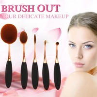 5pc S Set Makeup Brushes Oval Foundation Professional Powder Eyebrow Make Up Brush Set