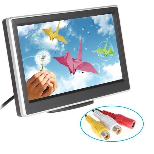 Pantalla LCD de ALTA DEFINICIÓN con pantalla a color TFT de 4.3 Pulgadas auto car Monitor De vista trasera del coche Reproductor de Vídeo digital receptor del revés del Monitor