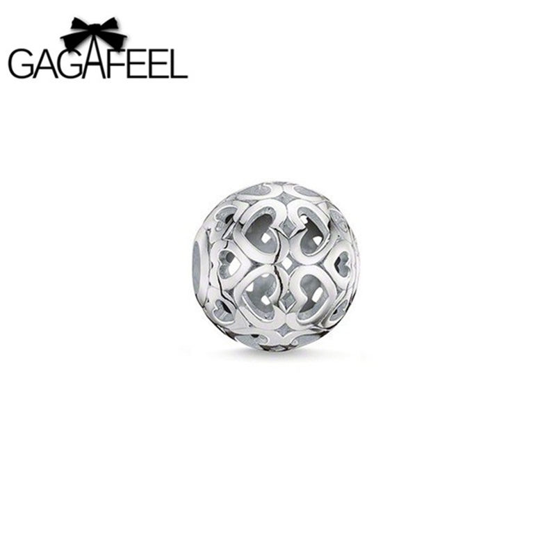 beads for jewelry making New Fashion silver Unisex Jewlery round beads of bracelets or necklaces semi precious stone GAGAFEEL