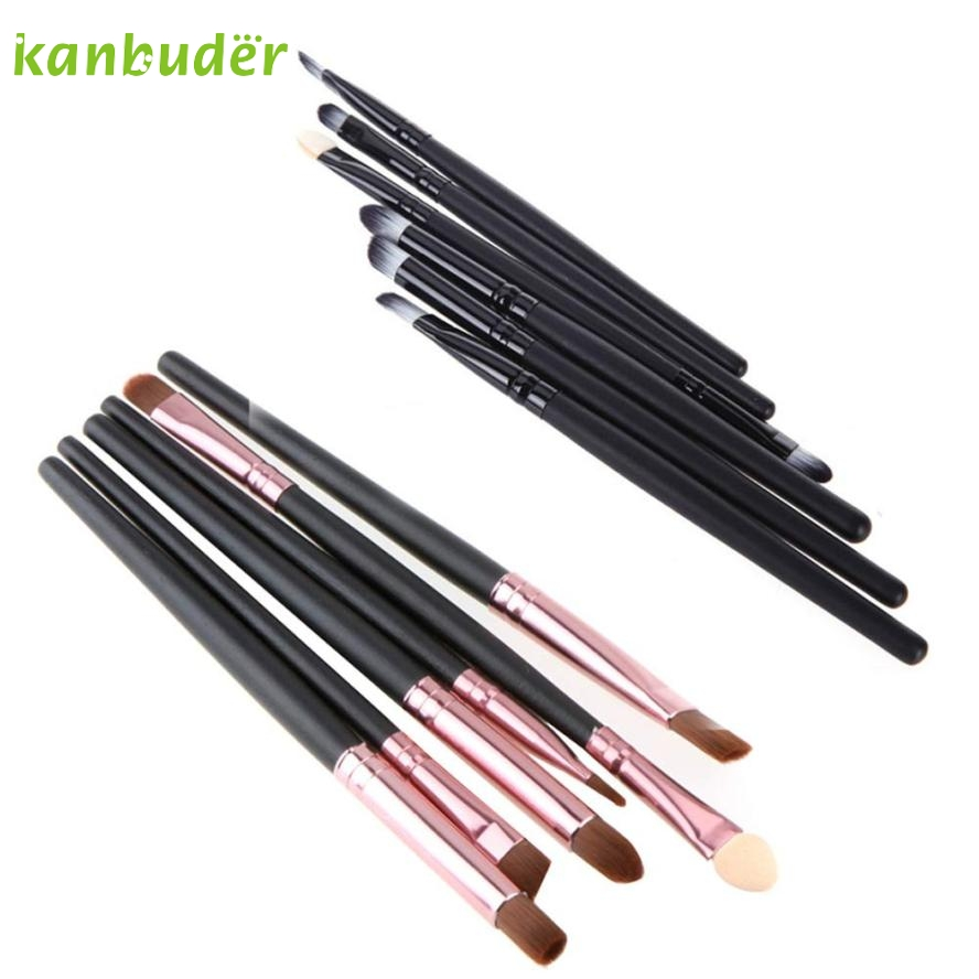 KANBUDER FeatheringWomen 6PCS/Set Black Cosmetic Makeup Brush Lip Eyeshadow Brushes Beauty W25