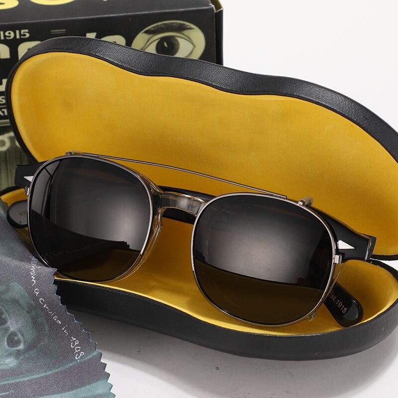 Johnny Depp Polarized Sunglasses Clip On Glasses Men Women Patchwork Acetate Optical Glasses Frame Brand design Box Sq313 2|Men's Eyewear Frames| - AliExpress