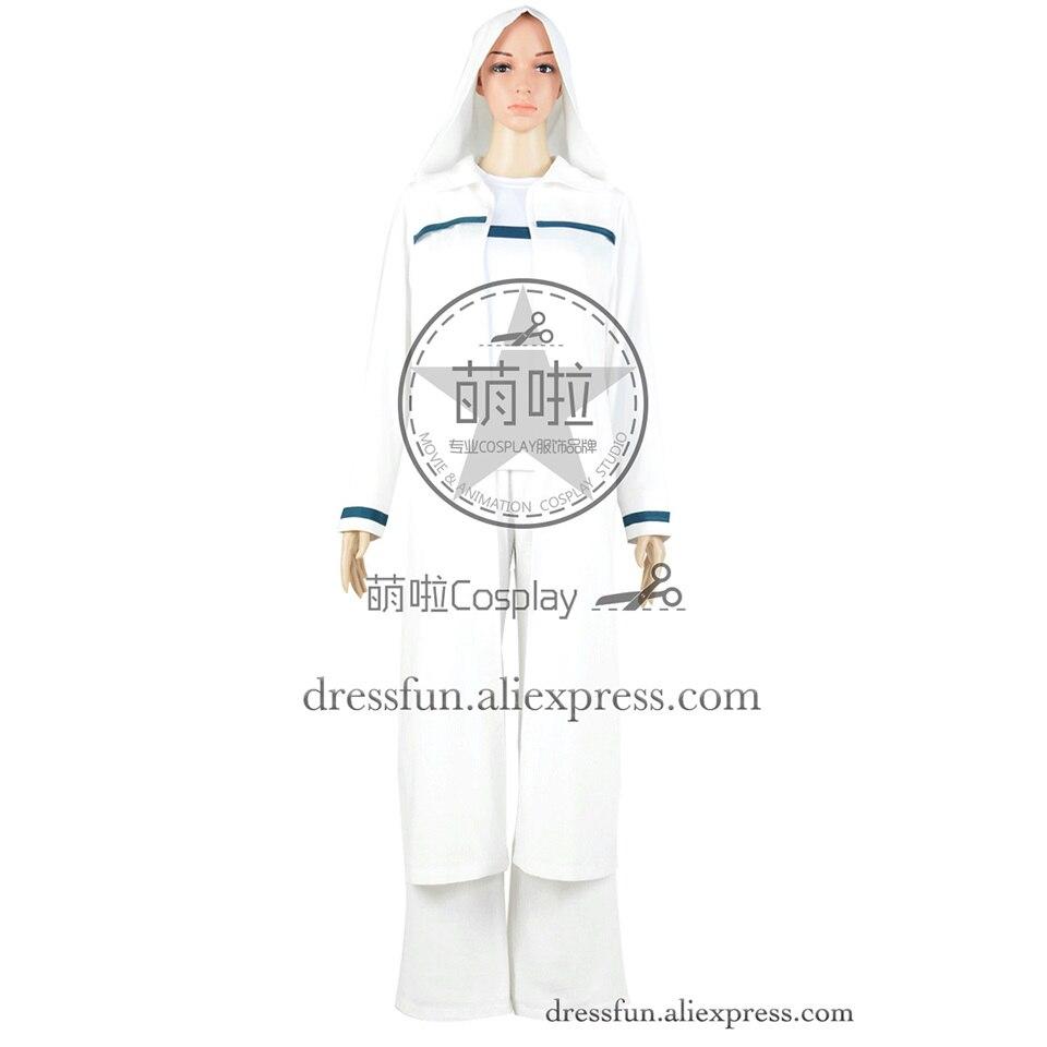 star trek ezri dax robe espacio profundo nueve cosplay blanco franja azul macho adulto uniforme trajes de ropa de moda