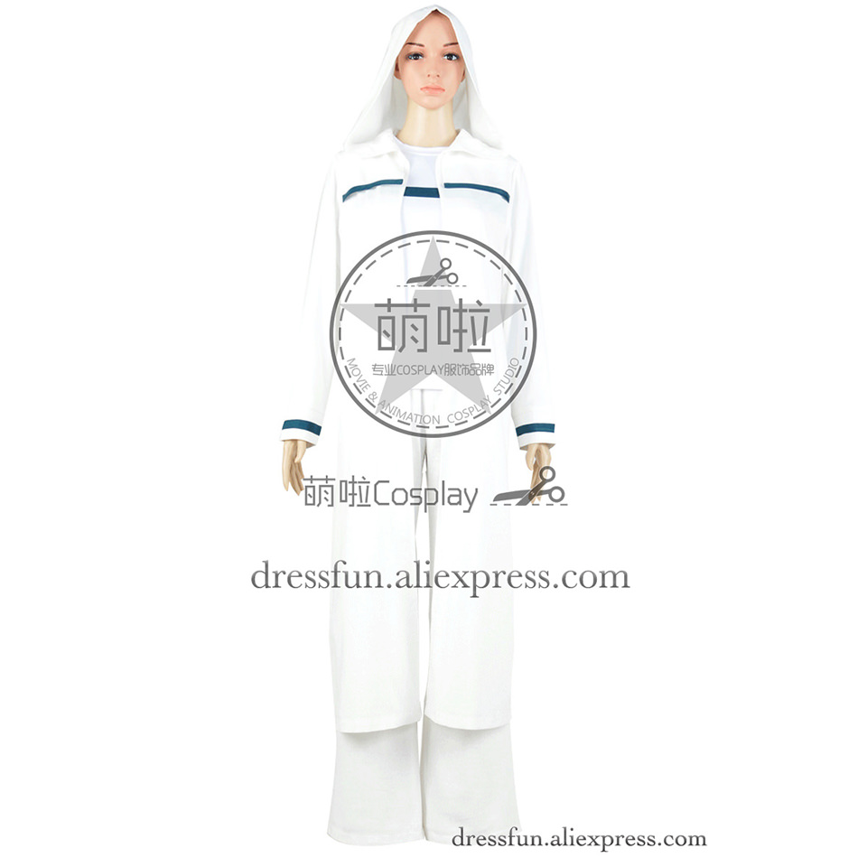 Star Trek Ezri Dax Robe Deep Space Nine Cosplay Costume White Blue Strip Version