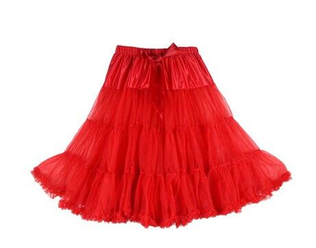 Евро ЗО, проверка, Нижняя юбка для женщин, шифоновая юбка-американка, юбка-пачка для взрослых, бальное платье, для танцев, летняя, 65 см, длинная юбка, сексуальная, однослойная - Цвет: red