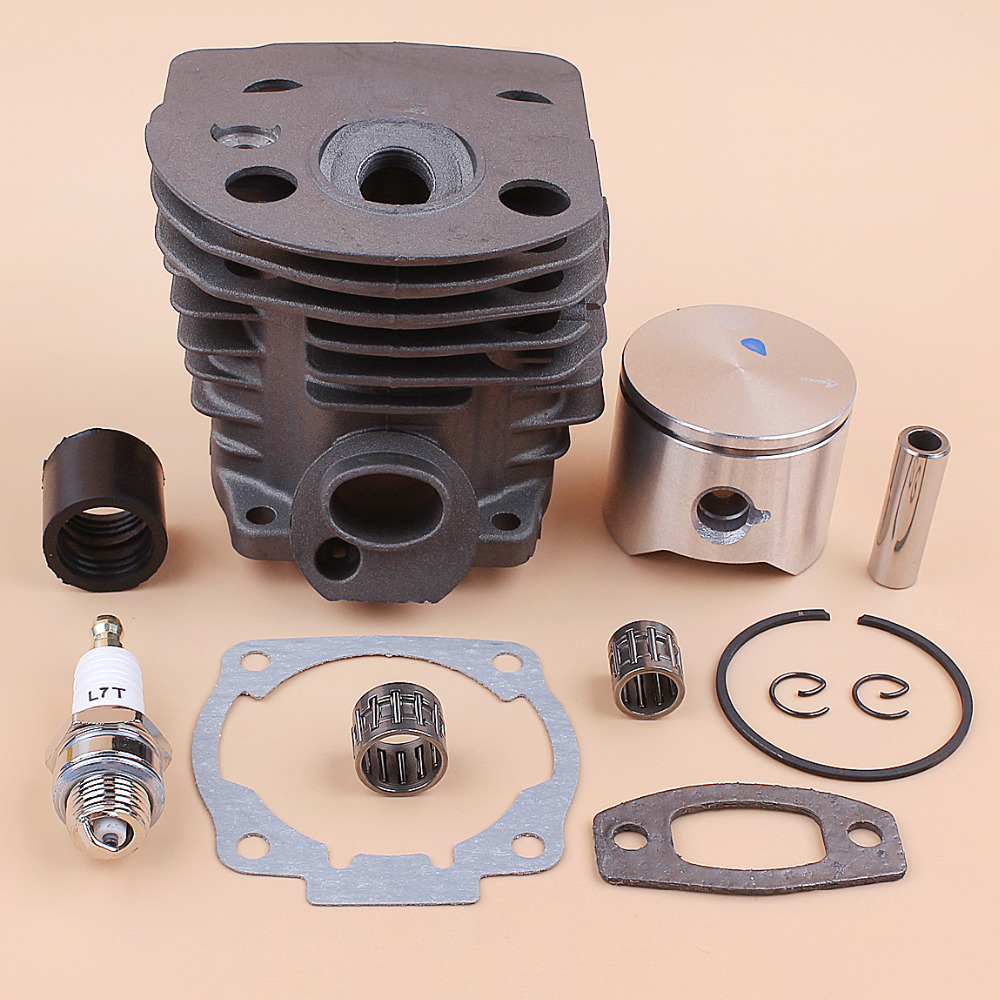 45mm Cylinder Head Piston Bearing Intake Manifold Gasket Kit For Husqvarna 55 51 50 Chainsaw Engine Motor Parts Nikasil Plate