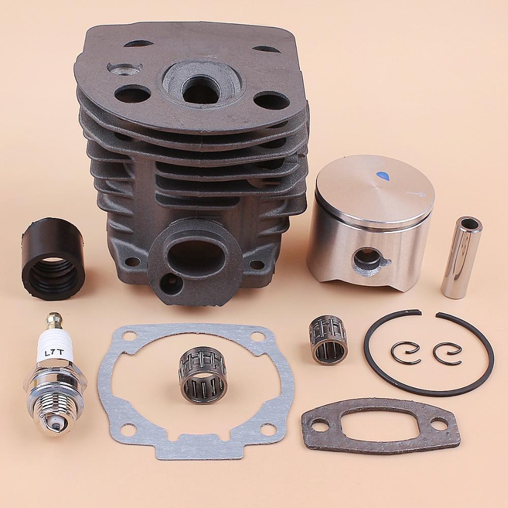 45mm Cylinder Head Piston Bearing Intake Manifold Gasket Kit For Husqvarna 55 51 50 Chainsaw Engine Motor Parts Nikasil Plate