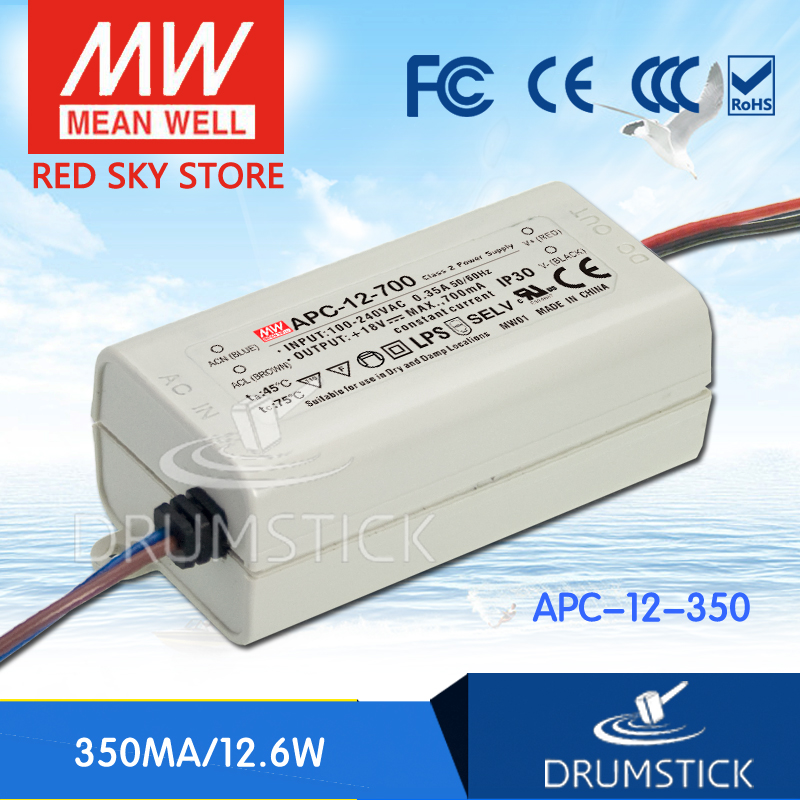 (Only 11.11)Hot! MEAN WELL APC-12-350 (12Pcs) 36V 350mA meanwell APC-12 12.6W Single Output LED Switching Power Supply(Only 11.11)Hot! MEAN WELL APC-12-350 (12Pcs) 36V 350mA meanwell APC-12 12.6W Single Output LED Switching Power Supply