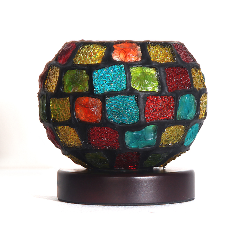 Mosaic Glass Ball Tiffany Table Lamp Creative Bedroom Bed Side Desk Lamp Crystalline