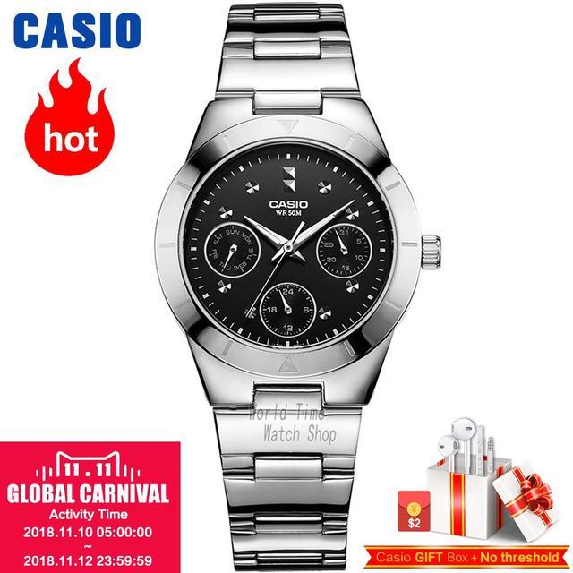 6b5940fbfa3af9 Casio montre Analogique Femmes de quartz montre tendance bracelet en acier  montre étanche Exquis LTP-