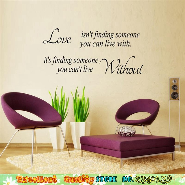 Nice Hot Romantic Love Quotes Wall Art Sticker DIY Home Bedroom Wall Paper Craft  Decoration Wall Letters Part 30