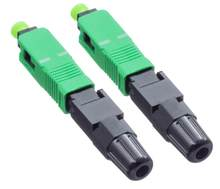 FTTH 100pcs SC APC Single Mode Fiber Optic Adapter Field Assembly Optic Fiber Fast Connector(China)