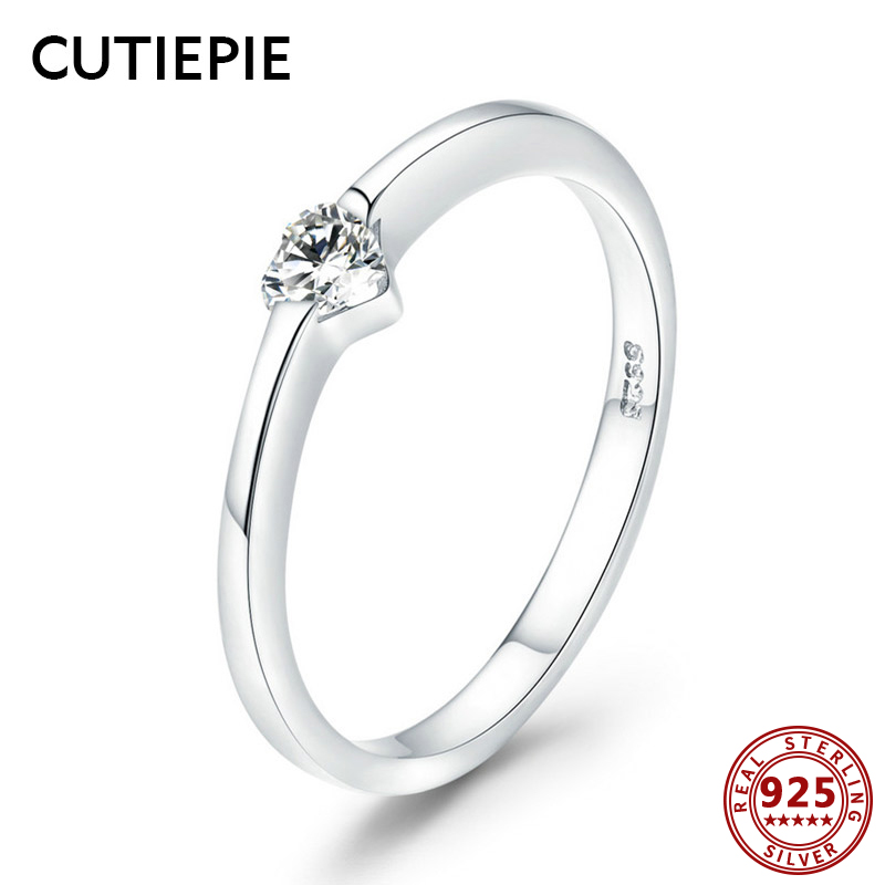 Cutiepie Genuine 925 Sterling Silver Rings For Ladies Luxurious Marriage ceremony Engagement Coronary heart Cz Ring Feminine Anniversary Items Jewellery