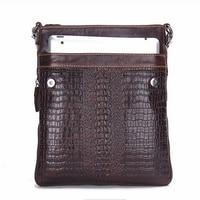 Fashion Designer Men S Handbag Genuine Leather Crossbody Bags For Men High Quality Handmade Alligator Pattern