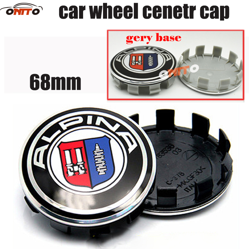 Image 3 - 20pcs /lot 10clips car wheel hub logo cap For bmw auto wheel center emblem cover 68mm label abs badge 10pins cat styling-in Wheel Center Caps from Automobiles & Motorcycles
