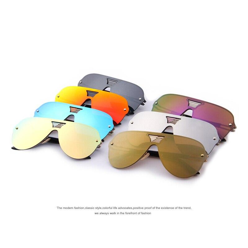 6e154bc4950e8f MERRY S Mode Hommes D été Miroir lunettes de Soleil Femmes Marque Design  Grand Cadre Intégré Lunettes lunettes de Soleil Oculos de sol UV400 dans  Lunettes ...