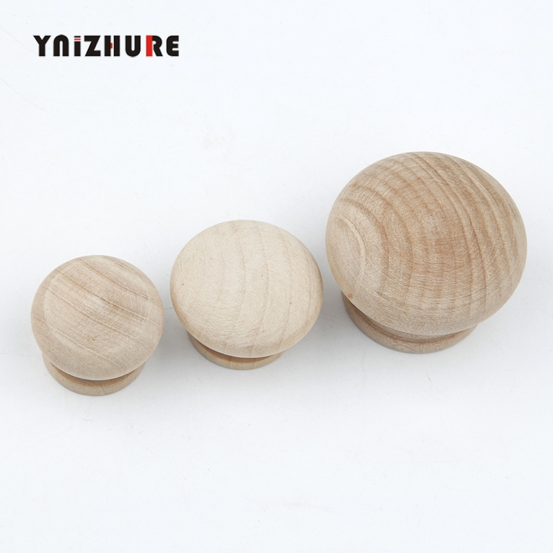 28/34/44mm Crude Wood Cabinet Drawer Wardrobe Knobs Door Pull Kitchen Handle Furniture Hardware Natural Wooden