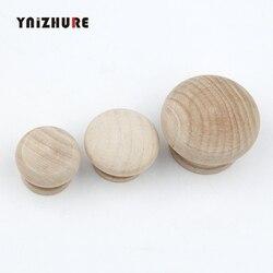 28/34/44mm surowego drewna szuflada szafki uchwyty do garderoby uchwyt do drzwiczek uchwyt kuchenny sprzęt meblowy naturalnie drewniane|Uchwyty szafek|   -
