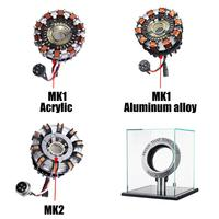 MK1/MK2 Aluminum Alloy/Acrylic Tony 1:1 Arc Reactor DIY Model Kit LED Chest Lamp USB Movie Props Gifts Science Toy