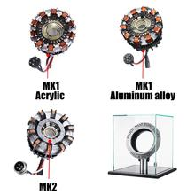 Reactor de arco DIY Kit modelo LED pecho Lámpara USB ACCESORIOS DE CINE MK1/MK2/aleación de aluminio acrílico Tony 1:1 regalos de juguetes de la ciencia