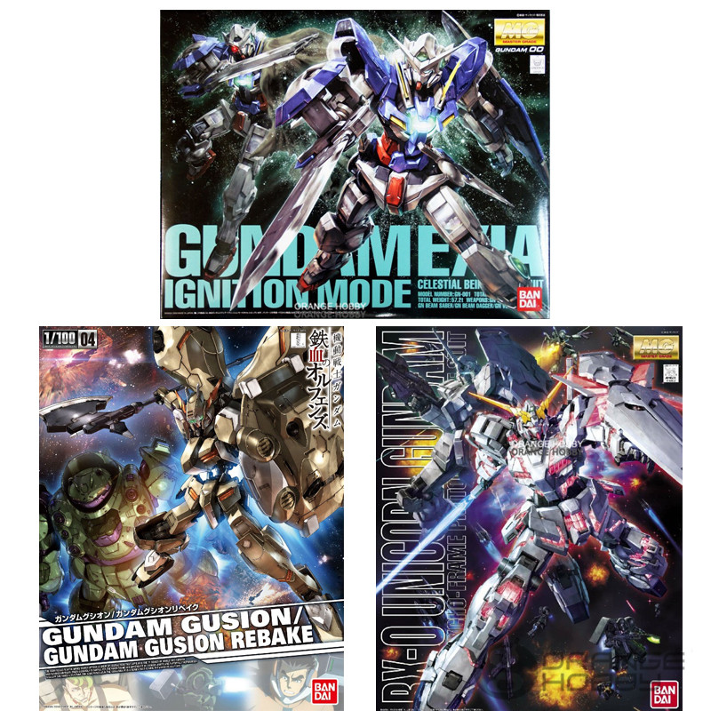 Special Order Bandai MG 1/100 3 Optional Gusion/Unicorn Gundam/00 Gundam bandai 1 100 mg assault purples gundam model page href page 5 page 1